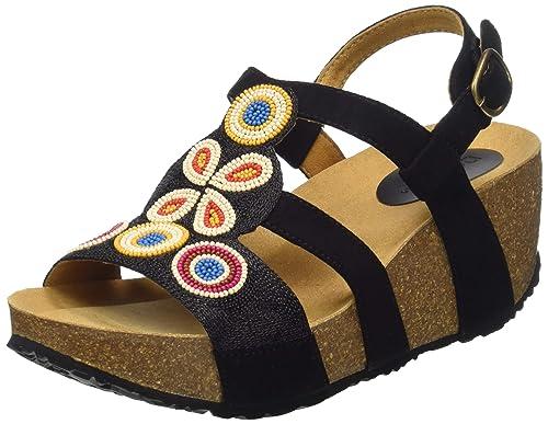 nuovo arrivo ce03f 903bd Desigual Shoes (Odisea_Flower Beads), Sandali con Cinturino alla Caviglia  Donna
