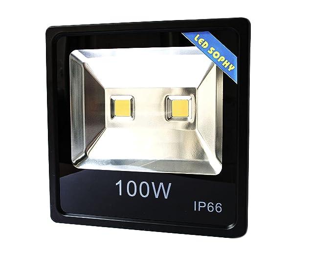 Ekoo® Proyector LED 100 W Luz Fría 6000 K Profesional, Faro para ...