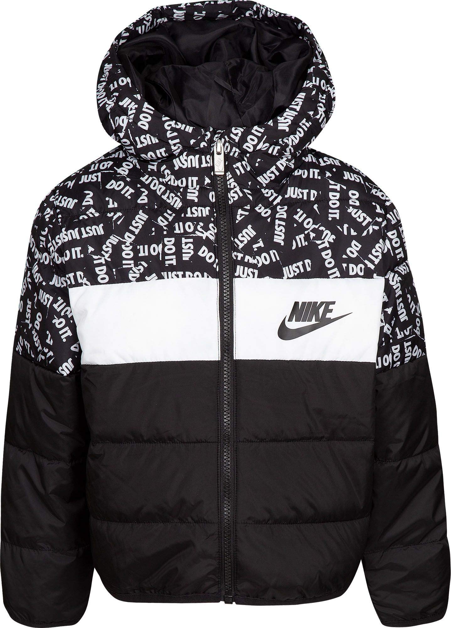 Nike Boy's Polyfill Blocked Insulated Puffer Jacket (Black, 4) by Nike (Image #1)