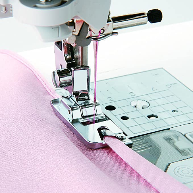 Estrecha dobladillo prensatelas para máquina de coser – se adapta a todos los baja vástago snap-on * cantante, hermano, Babylock, Euro-pro, Elna y más.: Amazon.es: Hogar