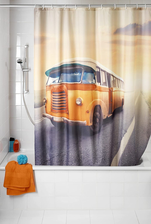 Wenko Vintage Bus 21584 Cortina De Ducha Poli/éster 180x200x275 cm