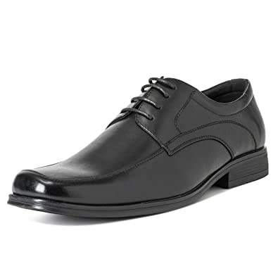 210afb03d758 Mens Queensbery Francis Office Formal Work Wedding Smart Leather Shoes -  Black - EU40 US7