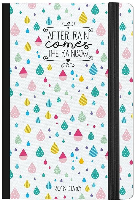 Legami AG121820 - Agenda 2018 fotográfica semanal con cuaderno, 12 meses, diseño after rain
