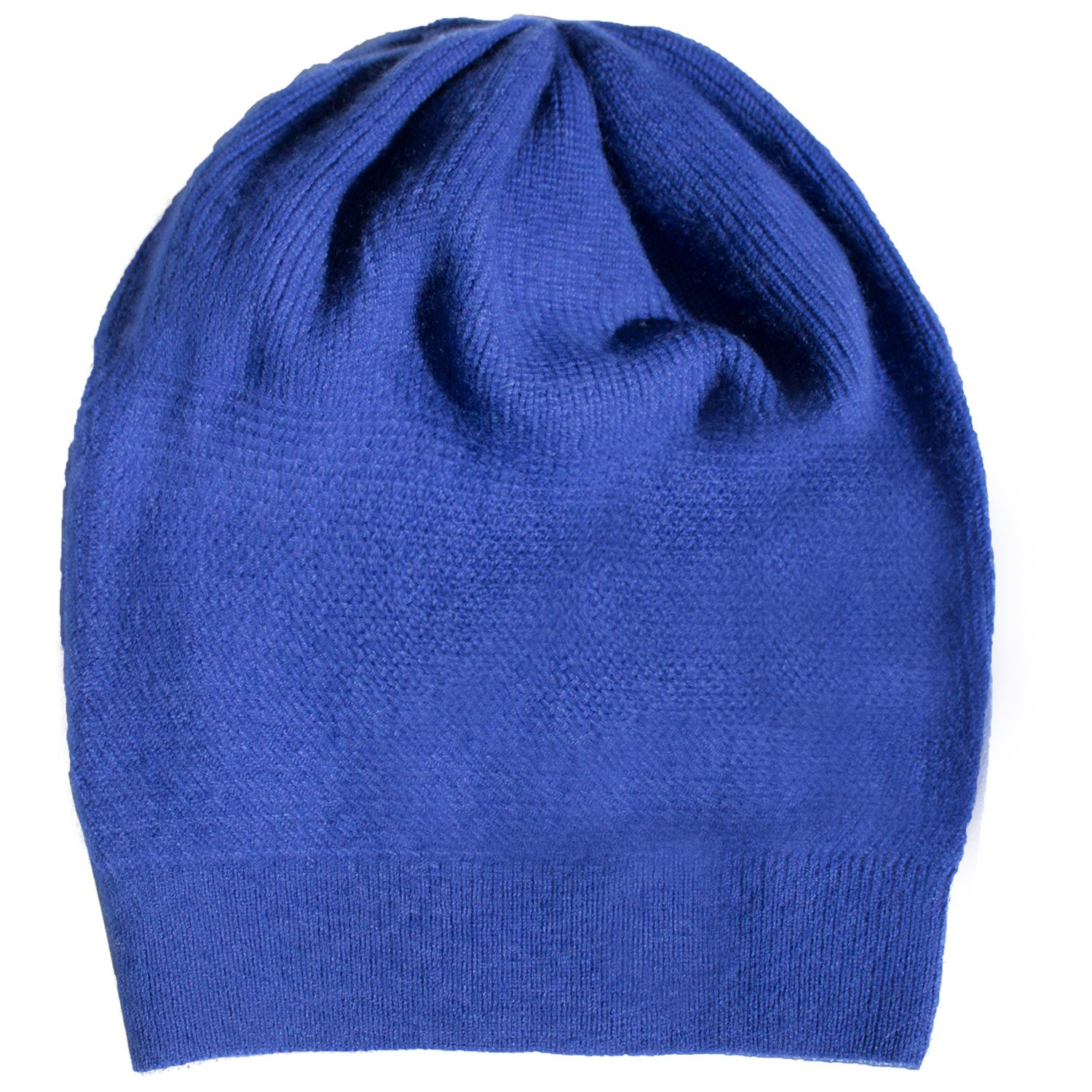 WaySoft Pure 100% Cashmere Beanie for Women in a Gift Box, Oversized Women Beanie Hat, Bring Warm and Luxury to Your Loved Ones, Perfect (Blue) by WaySoft (Image #1)