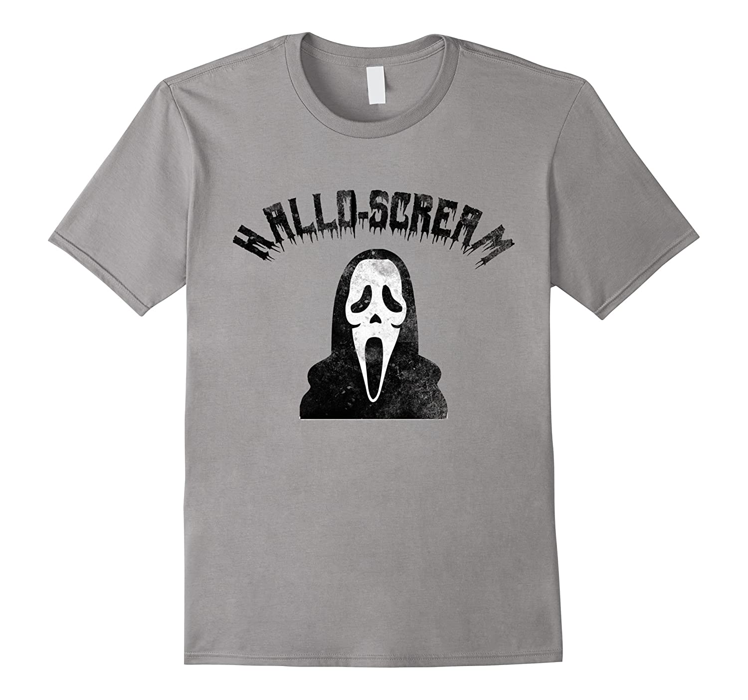 Funny Halloween T-Shirt Hallo-Scream For Trick-or-Treaters-FL