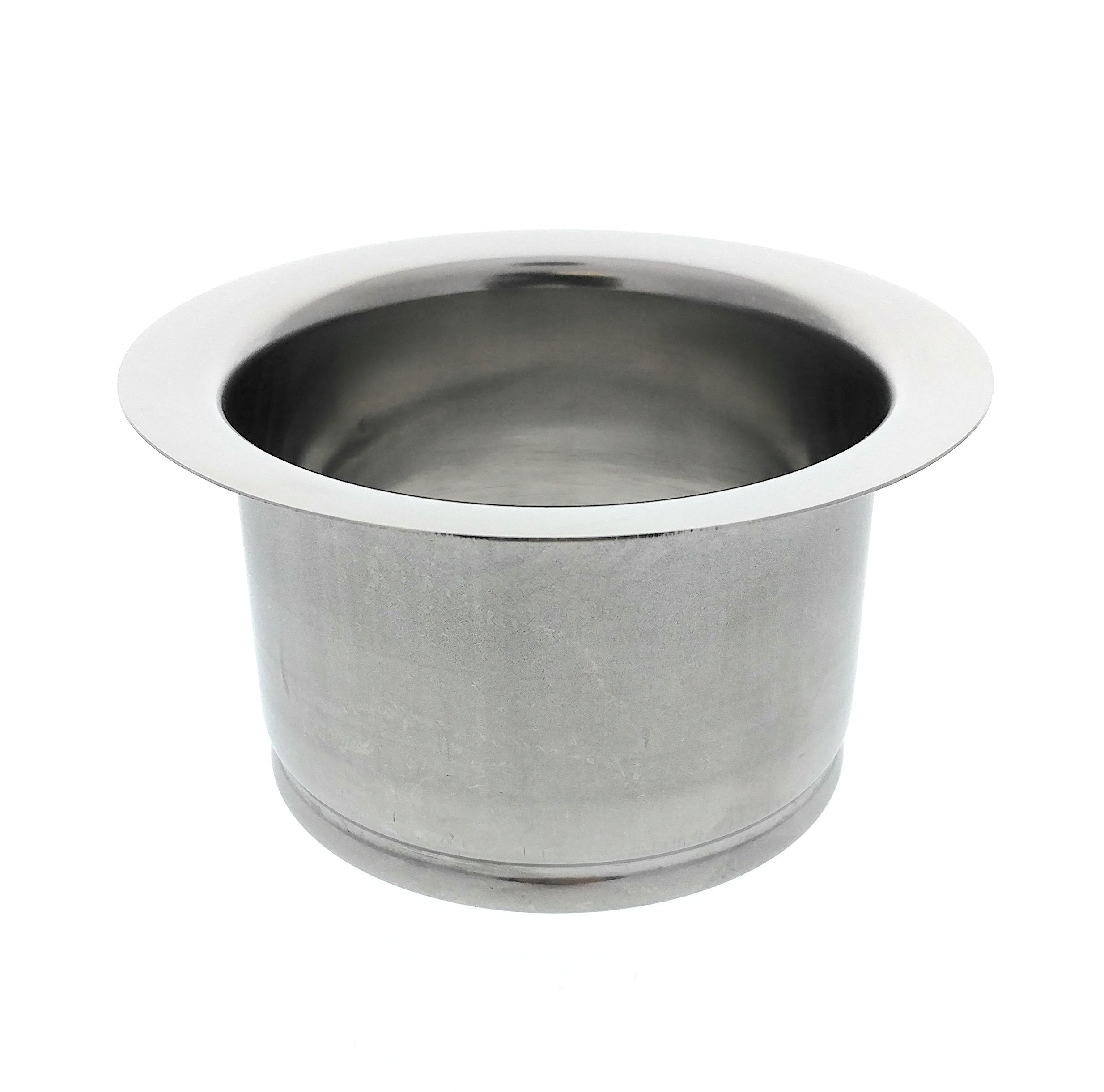 Kitchen Extended Sink Flange, Deep Polished Stainless Steel Flange For Insinkerator Garbage Disposals And Other Disposers That Use A 3 Bolt Mount and A Thicker Sink, By Essential Values by Essential Values