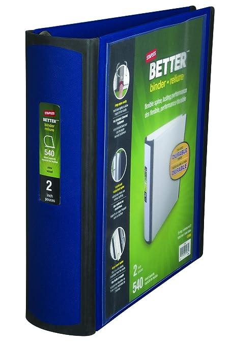 amazon com staples better binder 2 inch blue better binder