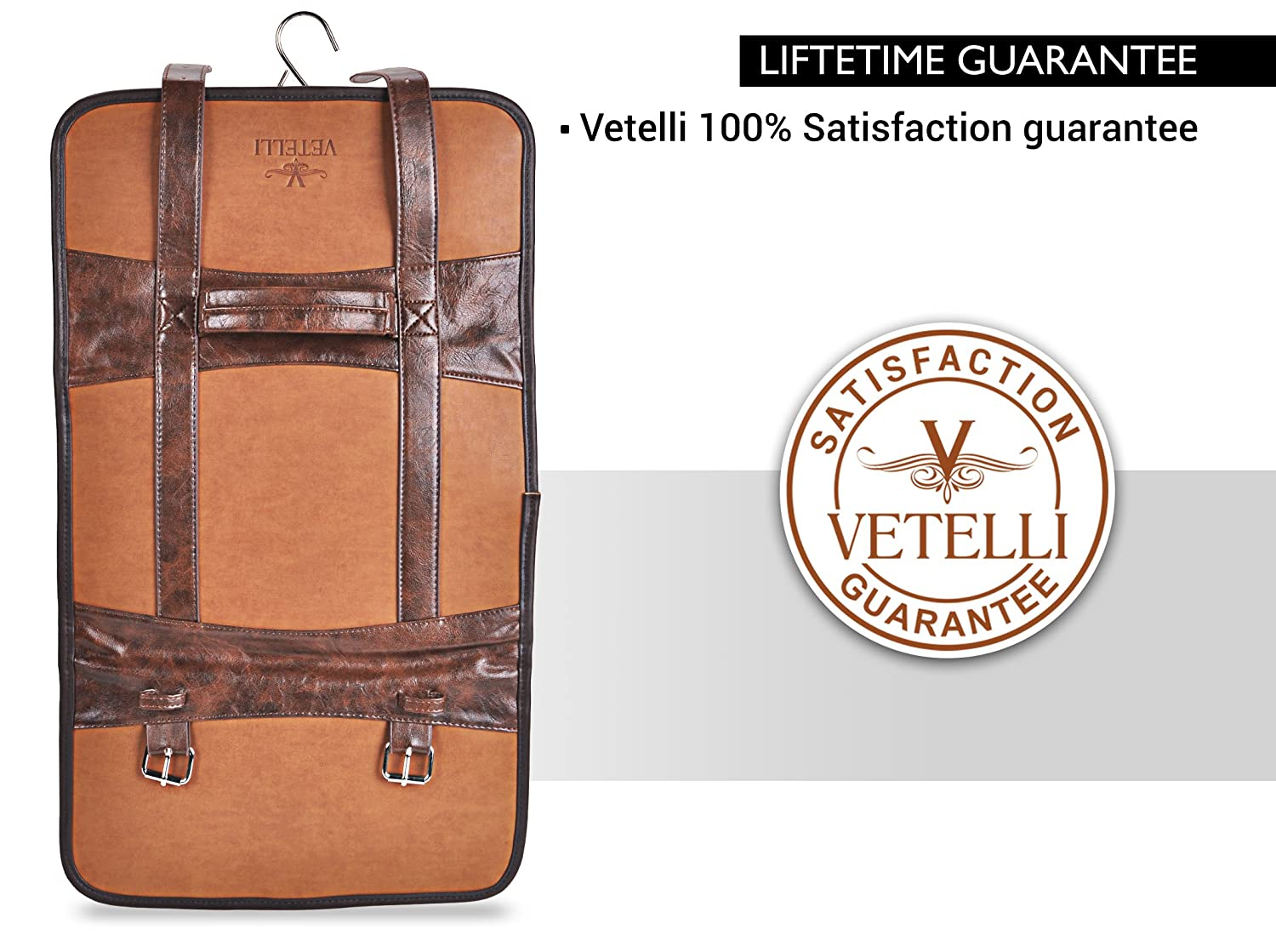 ab11ee67d9 Vetelli Hanging Toiletry Bag for Men - Dopp Kit   Travel Accessories Bag   Amazon.in  Bags