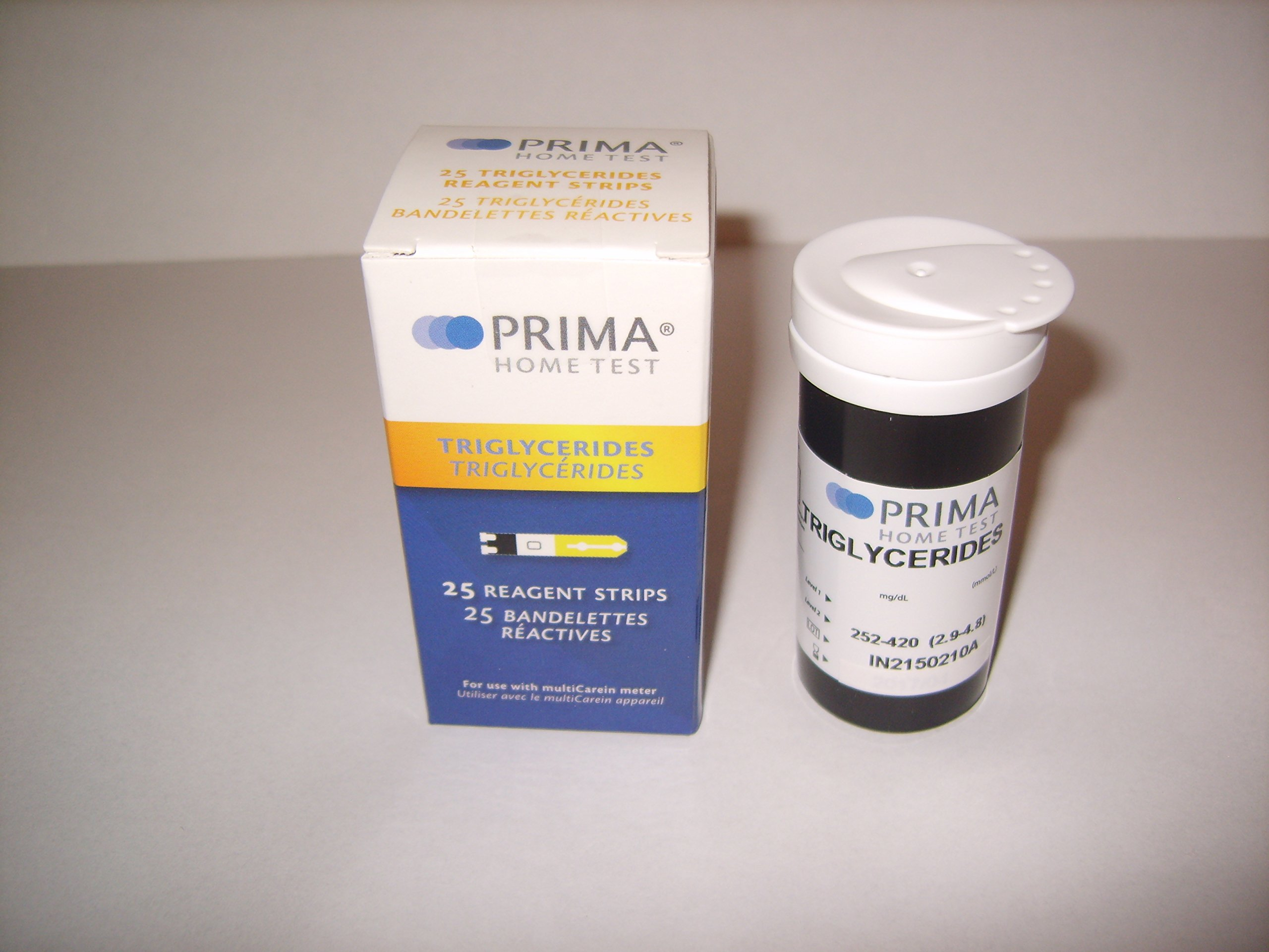 Prima Triglycerides Test Strips (Pack of 25 pcs)
