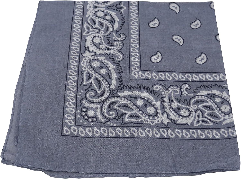 TOOKY - Pañuelo para la cabeza, diseño cuadrado de cachemira, 100 ...