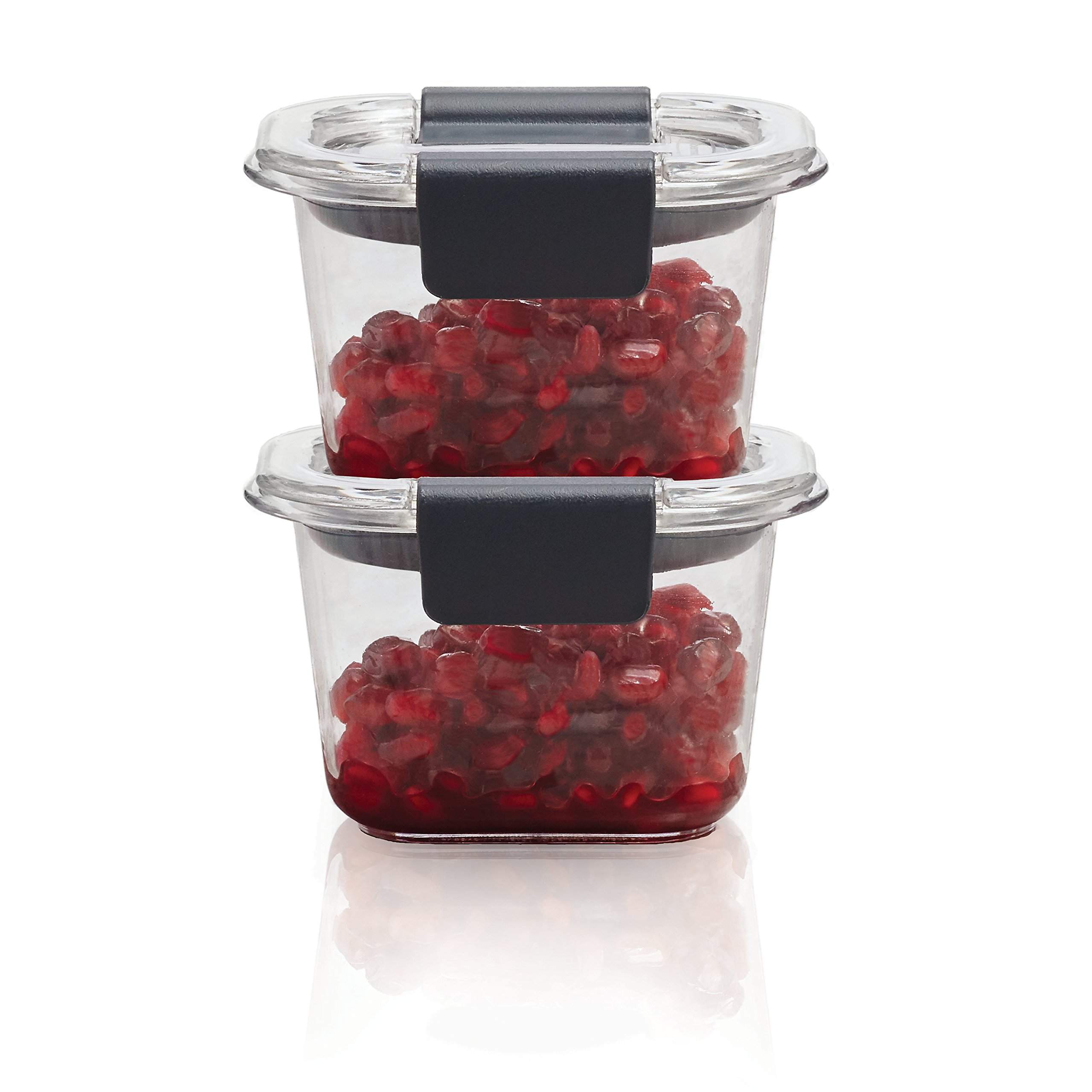 Rubbermaid Brilliance Food Storage Container, Mini, 0.5 Cup, Clear, 2 Pack 1991154