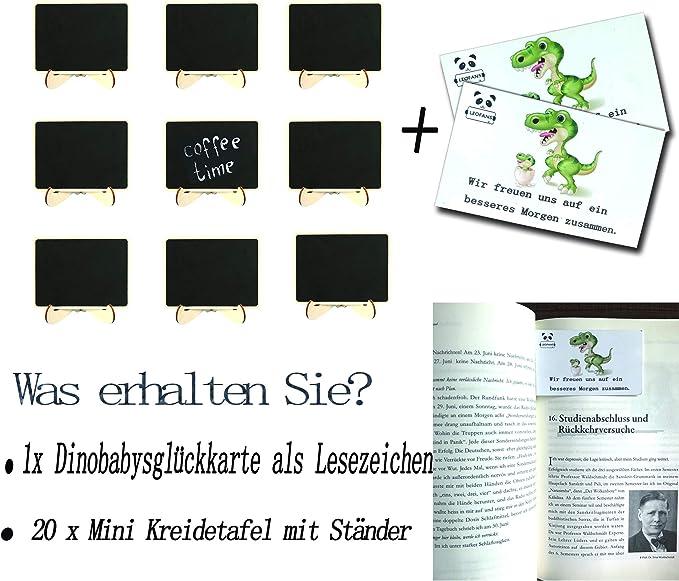 Partys Mini-Kreidetafel mit St/änder 12 St/ück Tischnummern f/ür Hochzeiten