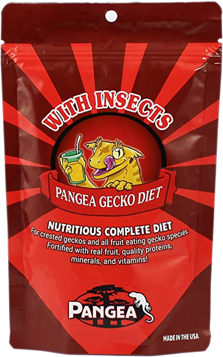 Pangea Fruit Mix with Insects Crested Gecko Complete Diet 1 lb