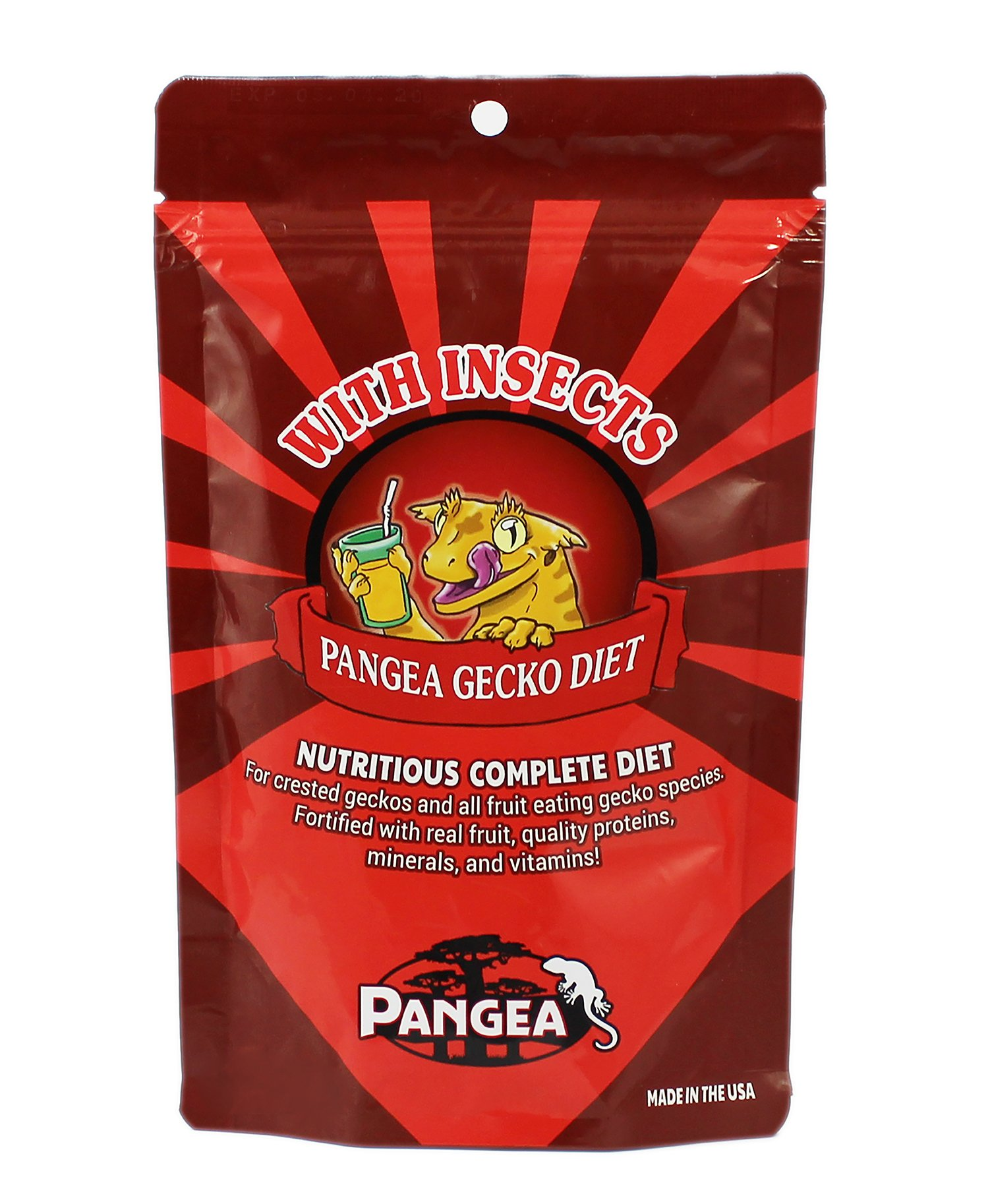 Pangea Fruit Mix with Insects Crested Gecko Complete Diet 1/2 lb 1