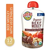 Earth's Best Earth's Best Organic Stage 3 Baby Food, Homestyle Beef Medley with Vegetables, 4.5 Ounce Pouch (Pack of 12), 12 Count