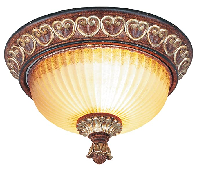 Amazon.com: Verona - Lámpara de techo de bronce (2 focos, 80 ...