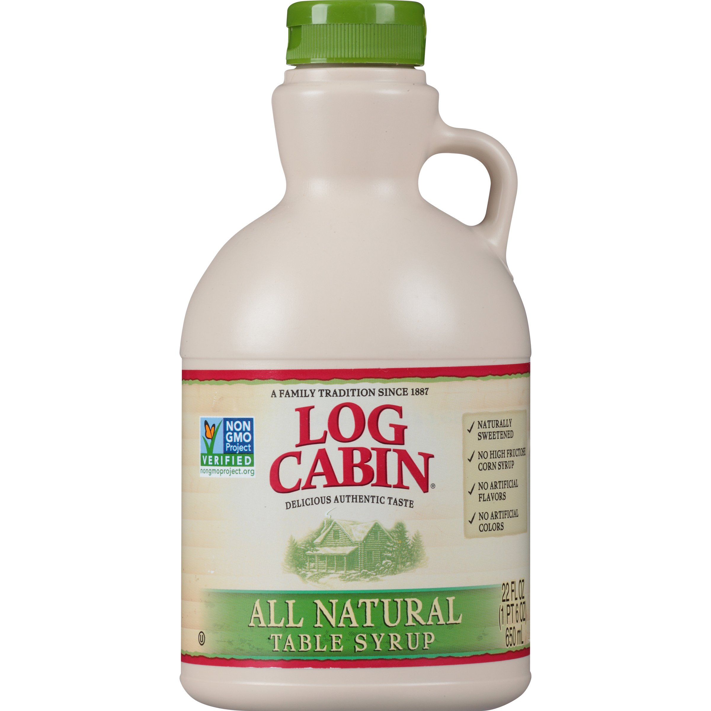 Log Cabin Table Syrup, All Natural, 22 oz