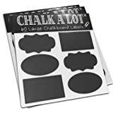 [LIFE OF THE PARTY] 60 Vinyl Blackboard Stickers