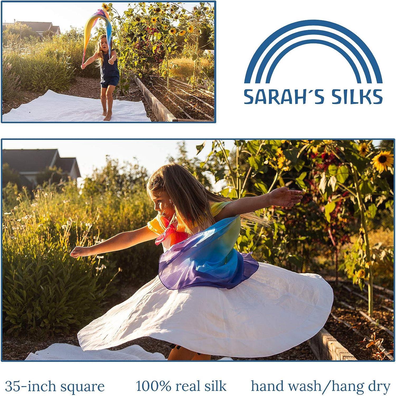 Sarahs Silks - Enchanted Playsilk, 100% Real Silk, Eco-Friendly Dye, 35-Inch Square Silk Play Scarf