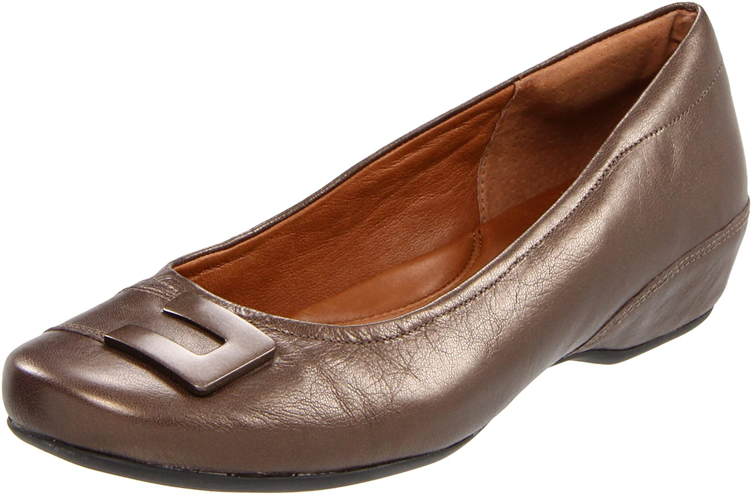 CLARKS Women's Concert Choir Flat B004HVAUOO 7 W US|Brown Metallic Leather