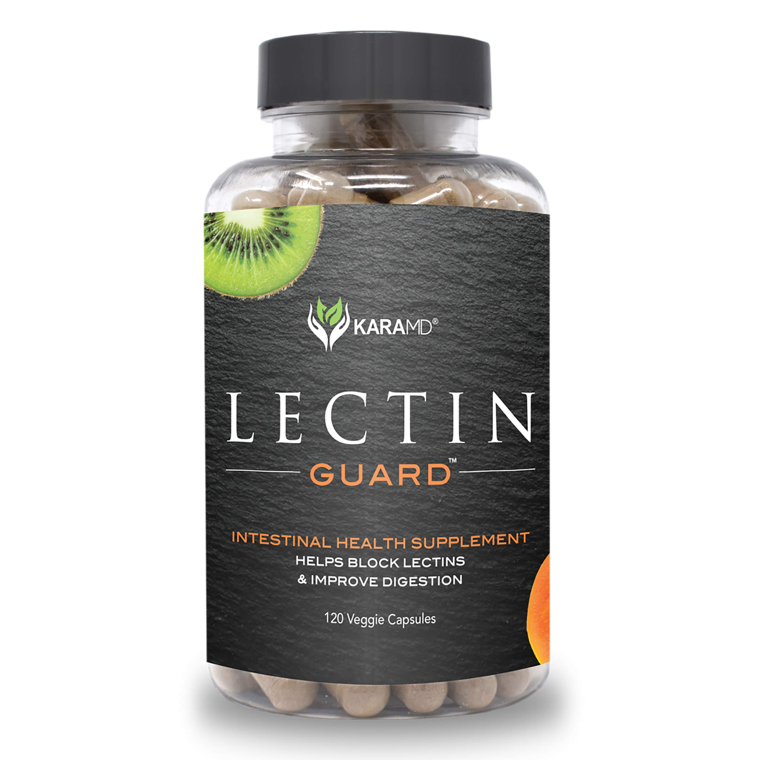 KaraMD Lectin Guard | Doctor Formulated Natural & Concentrated Lectin Blocker Digestive Blend Supplement | Complete Intestinal Health for Men & Women | Protect Against Harmful Lectins - 120 Capsules by KaraMD