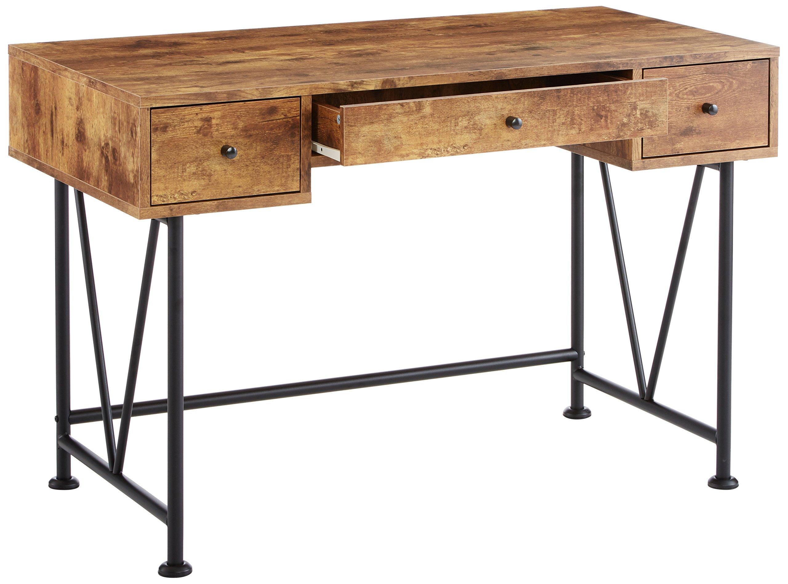glavan 3 drawer writing desk with antique nutmeg and black 21032325282 ebay. Black Bedroom Furniture Sets. Home Design Ideas