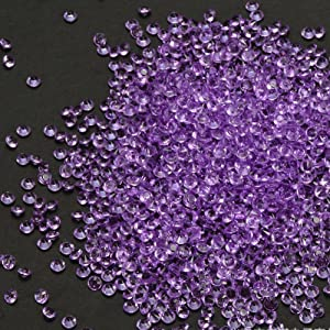 PePeng Pack of 6000 Clear Decorative Wedding Table Scatter Crystals for 6-8 Tables, Make Wedding Days More Magic with The Acrylic Gem Confetti (Violet)