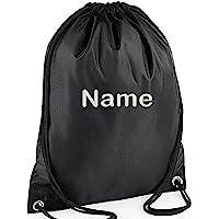 EMBROIDERED Personalised Drawstring GYM Bag, Any Name, Gym,School, Nursery, Swim,PE, Dance Kit,