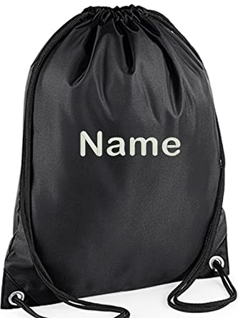 EMBROIDERED Personalised Drawstring GYM Bag Any Name Gym School Nursery Swim PE Dance
