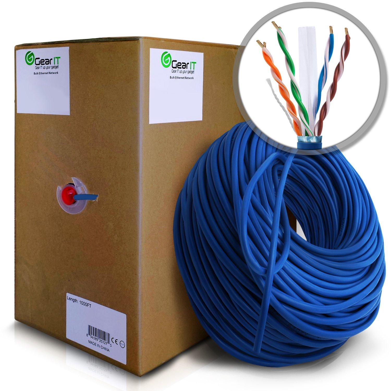 Amazon.com: GearIT 1000 Feet Bulk Cat6 STP Ethernet Cable - Stranded ...