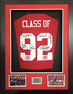 9cf9db3d01d FMS Class of 92 signed Manchester United Shirt 3D Display with COA LTD  Edition