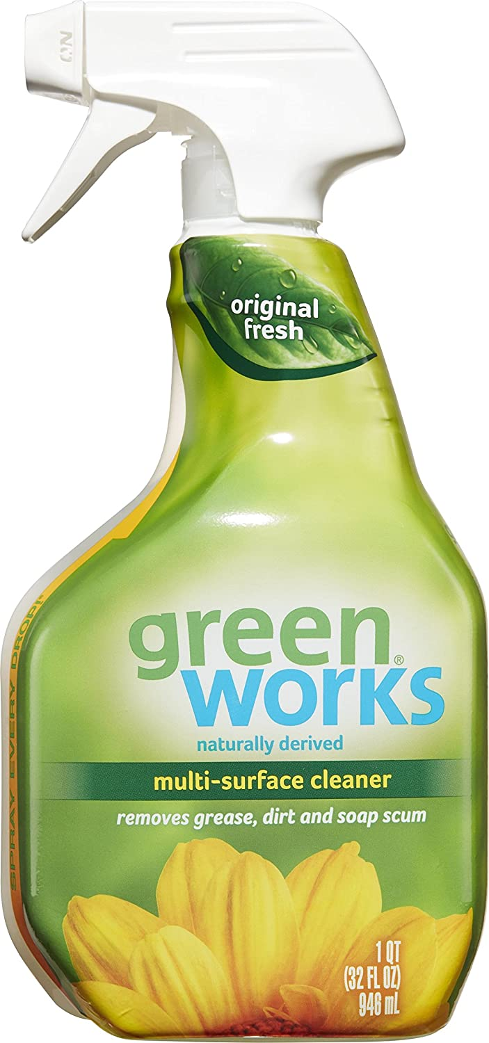 All purpose bathroom cleaner - Amazon Com Green Works Multi Surface Cleaner Spray Bottle Original Fresh 32 Ounces Pack Of 3 Health Personal Care
