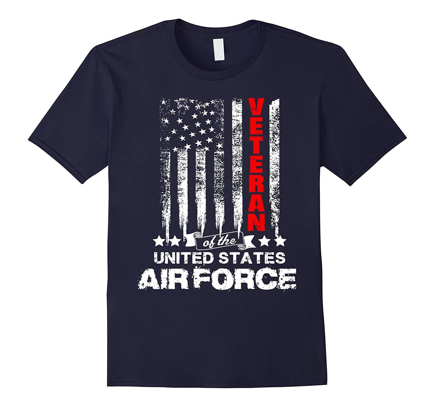 American Flag Tee for USA Air Force Veterans T-shirt-BN