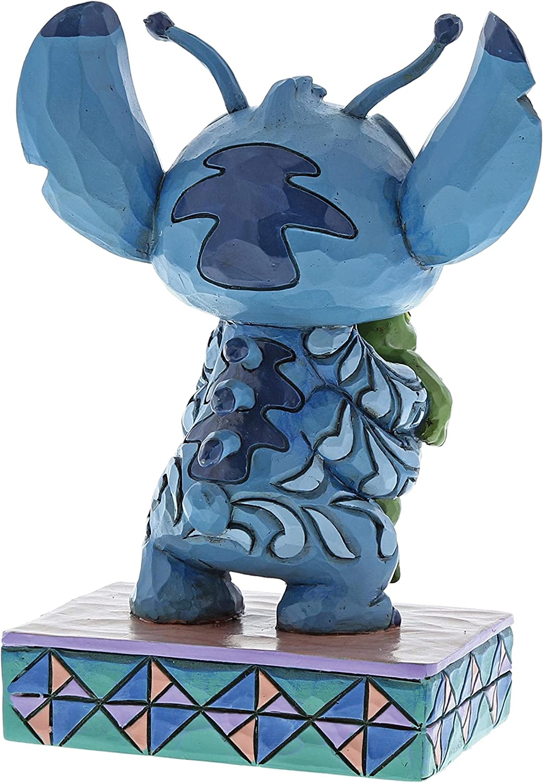 Disney Extra/ñas Formas de Vida-Stitch con La Rana 7.00x6.00x10.00 cm Resina