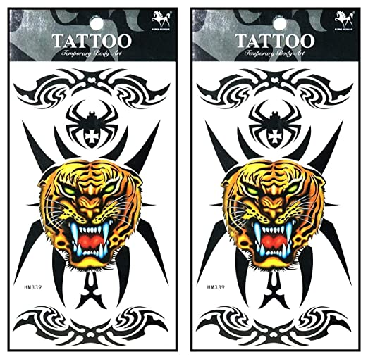 Tattoos 2 hojas de tatuaje de calavera india con plumas de zorro ...