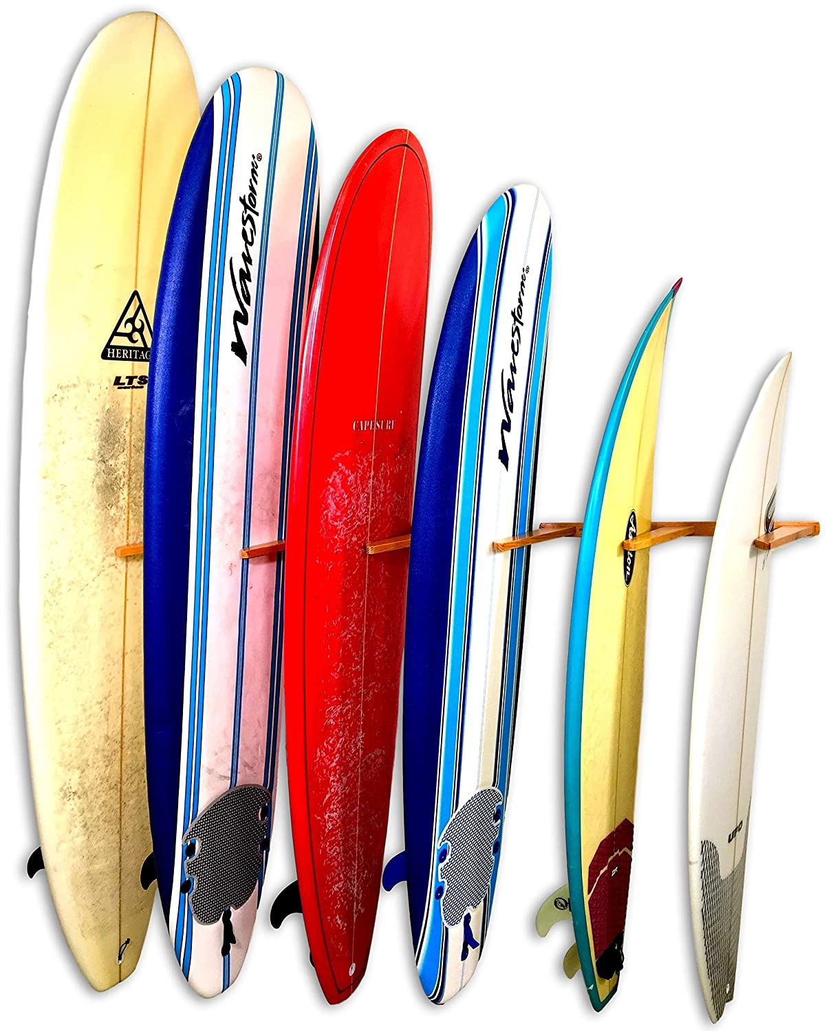 STORE YOUR BOARD Estante de Pared Vertical de Madera para ...