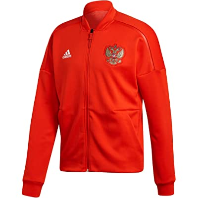 adidas 2018-2019 Russia ZNE Knitted Anthem Jacket (Red)