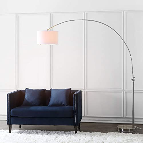 Safavieh LIT4351A Lighting Collection Ascella Nickel Arc Floor Lamp
