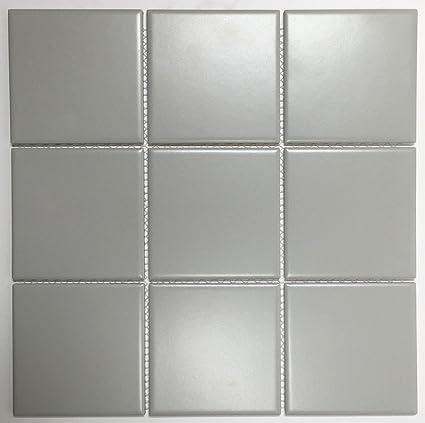 Vogue Tiles Porcelain 3-3/4 in  x 3-3/4 in  Matte Mesh