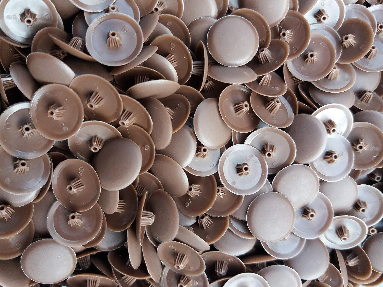 Celtic Woods - Tapas para tornillos tipo pozi (50 unidades, plástico), color marrón oscuro: Amazon.es: Bricolaje y herramientas