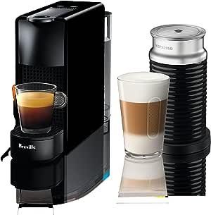 Breville-Nespresso USA BEC250BLK1AUC1 Nespresso Essenza Mini Expresso Machine, One Size, Piano Black
