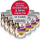 Hill's Science Diet Wet Dog Food, Adult, Sensitive Stomach & Skin, 12.8 Oz, 12-pack