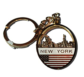 New York Schlüsselanhänger,Empire State Building Foto Metall Keyring,Neu Sammeln & Seltenes
