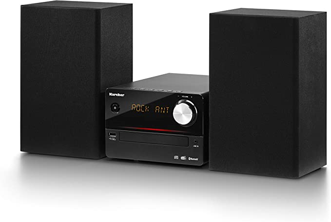 Karcher - Minicadena con Reproductor de CD FM/Dab+ Negro