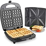 28376631f14 VonShef 2 in 1 Sandwich Toaster   Waffle Maker with Removable Non-Stick  Plates -