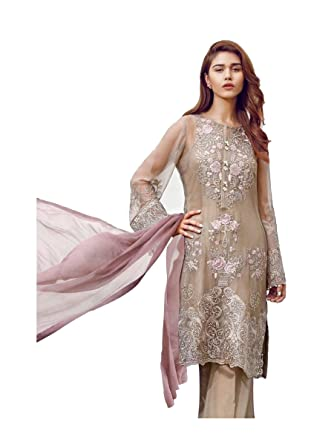 c5273cc914 EID COLLECTION, Madeesh Pakistani Suits for Women party wear, Georgette,  Dress Material,
