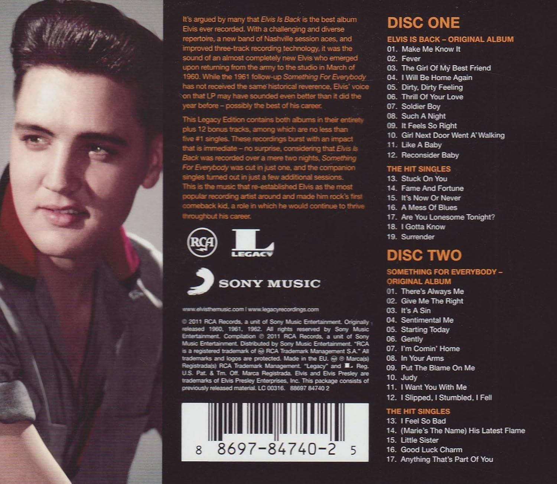 Elvis Presley - Elvis Is Back (Legacy Edition) - Amazon.com Music