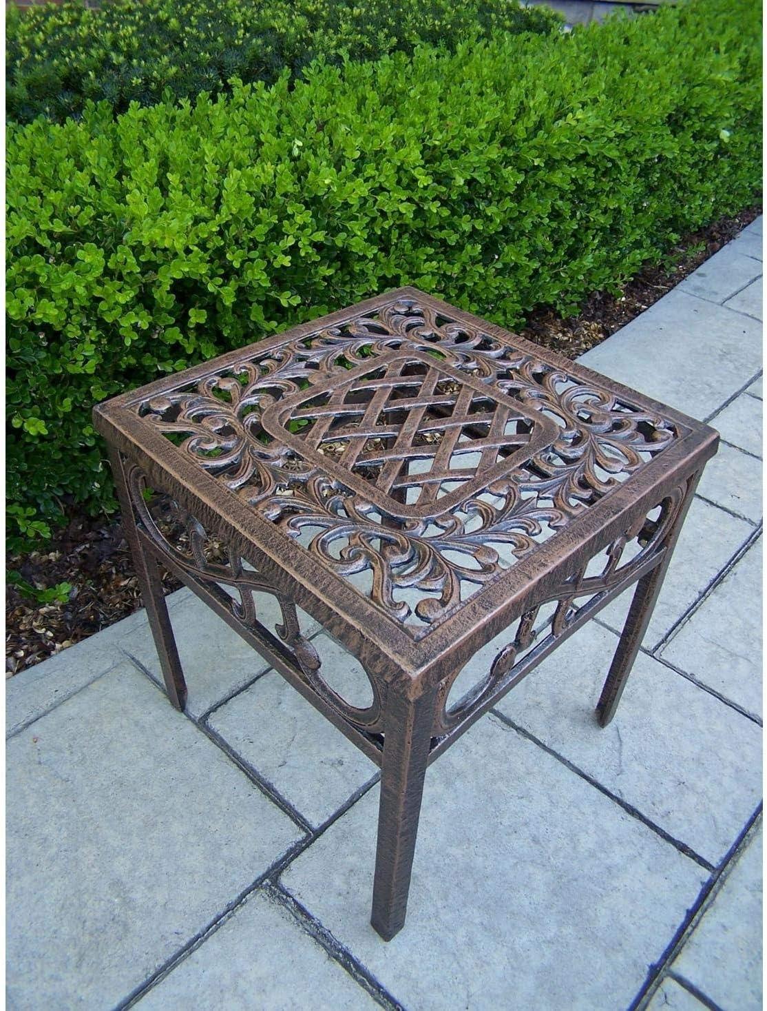 Antique Bronze Oakland Living Royal Cast Aluminum 17 Square Side Table