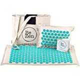 BeZen Acupressure Mat & Pillow Set   Eco-Friendly Coconut Fibre & Cotton Linen   Relieves Stress, Back, Neck & Sciatic Pain   Perfect for Muscle Relaxation   Comes with Carry Bag For Easy Storage