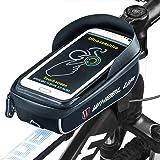 """Ziroom Bolsa Bicicleta, Bolsa Móvil Bicicleta, Bolsa Protectora Cuadro Bicicleta de móviles de hasta 6 """". Soporte Bolsa Bici Impermeable con Pantalla táctil para móviles"""